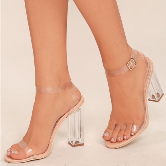 Lulu's Shoes - Clear to See Transparent Lucite Heels